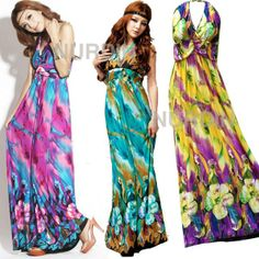 Maxi dress Floral Summer Long Dress Happy Summer by Nuichan ...
