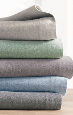 """""""Now"""" is always a good time for a new look, and our Heathered Flannel Sheet Set is here now as the perfect update from your old solid flannels."""