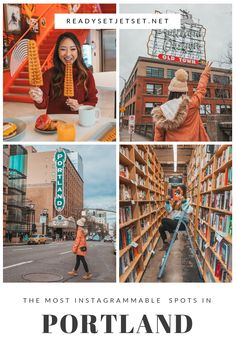 The Most Instagrammable Spots in Portland, Oregon // www.readysetjetset.net #readysetjetset #portland #oregon #pdx #pnw #blogpost #photoguide Oregon Travel, Travel Usa, Travel Tips, Travel Portland, Living In Portland Oregon, Downtown Portland Oregon, Portland Food, Travel Guides, Seattle