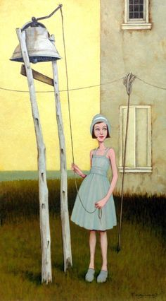 "Fred Calleri, ""Recess"", 24 x 24 in., Oil on Panel 