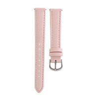 INTERCHANGEABLE BLUSH LOCKET BRACELET STRAPS Look pretty in pink this season with the Interchangeable Locket Bracelet Straps in pink. Pair it with the Coral, Rose Gold and Pearl Crystal wrap to complete the look!   Product material: Genuine leather with stainless steel hinge, measures 2.27 inches.