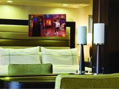 Mirror TV in the bedroom. Interior design. #mirrortv #interiordesign #cleverideas