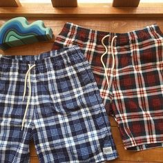 SD Print Flannel Check Shorts.  #standardcalifornia #スタンダードカリフォルニア #shorts