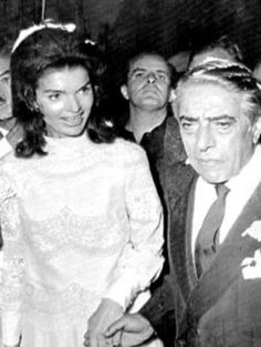 Jackie Kennedy's marriage to  Aristotle Onassis