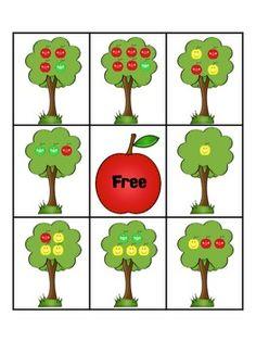 APPLE FRACTIONS BINGO GAME - TeachersPayTeachers.com
