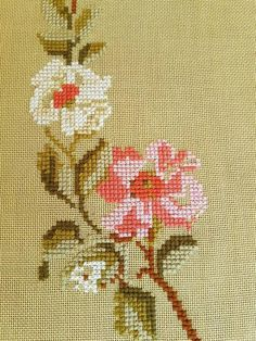 This Beautiful x / floral / cross stitch / embroidered tablerunner / tablecloth in linen from Sweden is just one of the custom, handmade pieces you'll find in our table runners shops. Cross Stitch Tattoo, Cross Stitch Heart, Cross Stitch Cards, Cross Stitch Flowers, Hardanger Embroidery, Cross Stitch Embroidery, Crochet Carpet, One Rose, Le Point