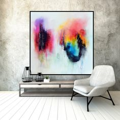 Original Large Abstract Painting on canvas by ModernArtHomeDecor