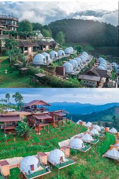With the dome-shaped design, eco-living dome allows for effective air movement and constant temperatures, maximizing the sun's light and warmth meanwhile reducing cooling and heating costs. Hut House, House Tent, Dome House, Glamping, Outdoor Tent Wedding, Forest Resort, Geodesic Dome Homes, Gazebo Plans, Farm Stay