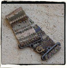 PATHWAYS peyote beaded bracelet cuff beading von PicklesandCo