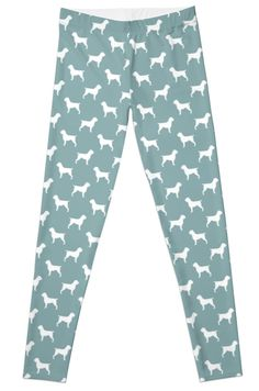 Wirehaired Pointing Griffon Silhouettes Pattern Leggings