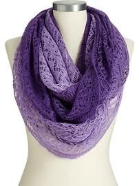 Women's Pointelle Infinity Scarves
