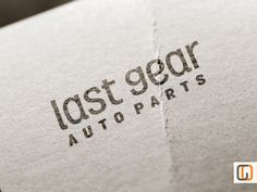 Last Gear // Unique Logotype graphic design by GraphicOverdrive, $89.95