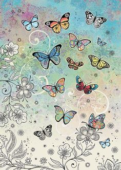 BugArt Decoratives ~ Colourful Butterflies. DECORATIVES Designed by Jane Crowther.