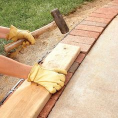 Use Brick Borders for Path Edging | The Family Handyman