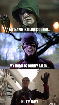 I do love Ray...he's funny and quirky...I just dont like him with felicity. Lol!!