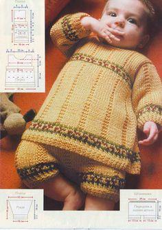 Если у вас в семье появился малыш, и вы увлекаетесь вязанием, то вам наверняка придется по душе идея связать своей малышке такой отличный комплект с позитивным названием «Солнечный круг».