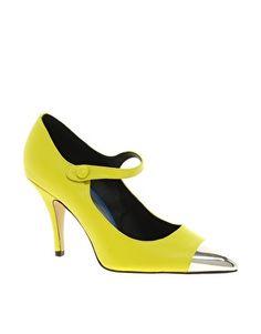 Enlarge ASOS PERRY Pointed High Heels with Metal Toe Cap