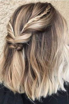 Are you going to balayage hair for the first time and know nothing about this technique? Or already have it and want to try its new type? We've gathered everything you need to know about balayage, check! Prom Hairstyles For Short Hair, Braids For Short Hair, Fall Hairstyles, Festival Hairstyles, Hairstyles 2018, Short Haircuts, Trendy Hairstyles, Medium Hairstyles, Braided Short Hair