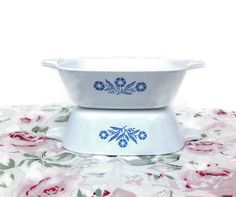 Vintage Petite Corning Ware Pans Blue by TinySacredThings on Etsy