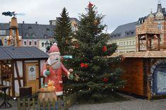 Weihnachtszeit im Erzgebirge, Blick auf den Annaberger Weihnachtmarkt