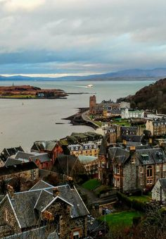 The view across Oban, Scotlands Highlands West Coast