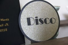 Stayin Alive Disco Party Circular Invite by OpulentDesignEvents, $6.00 on Etsy