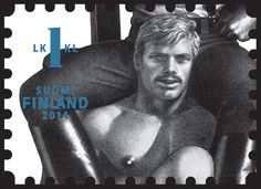 #2 of 3: Tom of Finland stamp issued September 8, 2014 by the Finnish Postal Service.