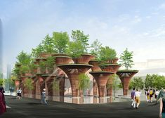 "Vo Trong Nghia plans bamboo ""lotus pods"" for Vietnam's expo pavilion"