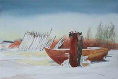 Aquarelle von Frank Koebsch während der regio:polis | Winterpause (c) Aquarell von Frank Koebsch