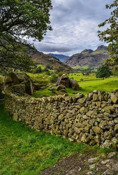 Langdale Valley Lake District England