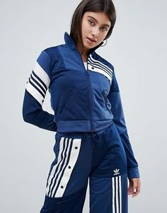 Women's Clothing Tracksuits & Sets matching Bra Avail Adidas X Danielle Cathari Navy Smart Silk Tracksuit Bottoms