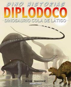 """Diplodoco. Dinosaurio cola de látigo de Rob Shone. Col. Dino-historias, Ed. Océano Travesía. """"Como las jirafas, tenía un cuello muy largo. Un enorme cuerpo y fuertes patas, como los elefantes. Para balancear su cuello, tenía una larga cola, como los canguros. Pero los huesos de su columna vertebral eran huecos, lo que lo hacía muy ligero para su enorme tamaño."""" Feu un tastet a http://issuu.com/editorialocanodemxicosadecv/docs/11280c"""