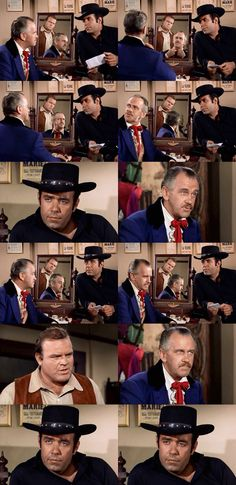 "Adam and Hoss interrogate the British spy who penned the letter that they found on a dead courier. When he refuses to reveal the identity of his cohort, Hoss threatens, ""I can break you apart."" Adam concedes, ""Well, he could, you know."" From The War Comes to Washoe (Bonanza)"