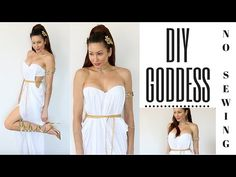 DIY Greek Goddess Costume-EASY NO SEWING!!!! - YouTube