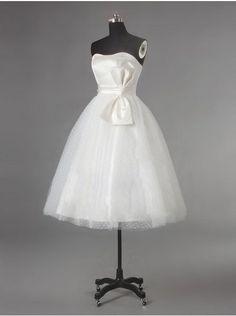 Vestido de novia corto ideal para bodas civiles
