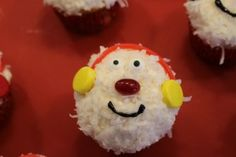 Abominable Snowman Cupcakes