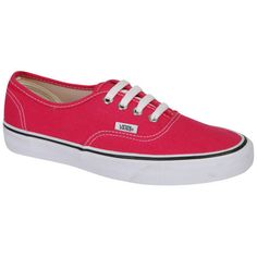 Vans Authentic Classic Chambray Trainers - Chilli Pepper (54 AUD) found on Polyvore featuring shoes, sneakers, vans, chaussures, sapatos, vans shoes, canvas sneakers, print sneakers, grip trainer and plimsoll shoes