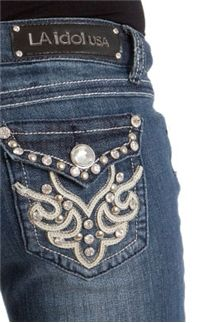 a5ef779af3 LA Idol Jeans Leather and Stones Bootcut 1103LP La Idol Jeans, Preppy  Clothing Brands,