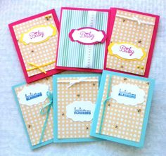 Set of Baby Shower Cards Handmade Baby Cards by CutiePieCardsShop, $6.50