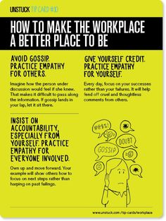 How to make the workplace a better place to be - Unstuck's Best Advice of 2013