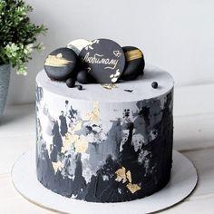 New Cake Birthday White Gold Ideas Buttercream Flowers, Buttercream Cake, Fondant Cakes, Cupcake Cakes, Buttercream Ideas, Birthday Cakes For Men, Cake Birthday, Birthday Cake For Boyfriend, Pretty Cakes