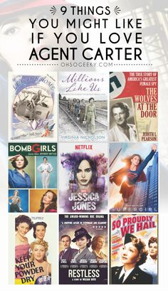 If you like Agent Peggy Carter, this list offers book, movie, and tv show recommendations similar to the Marvel heroine