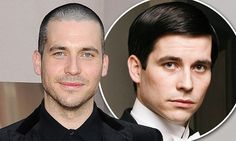 That won't go down well in Downton! Rob James-Collier ditches his trademark floppy locks in favour of a rugged shaved style