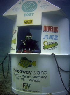 The World's Only Underwater Post Office #travel