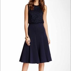 Flare Skirt PERFECT! Beautiful Vince Camuto skirt. Lots of stretch. 26 inches long. Vince Camuto Skirts