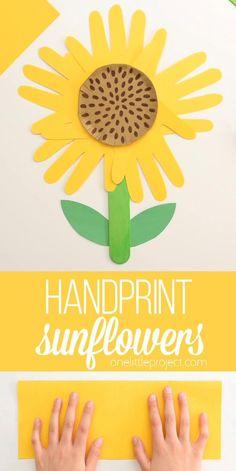 Handprint Sunflower: A Simple and Cute Sunflower Craft