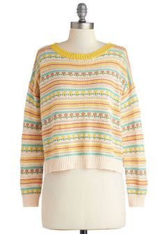 Posy Disposition Sweater, #ModCloth