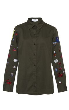 Multi-Icons Patched Shirt by Mira Mikati for Preorder on Moda Operandi