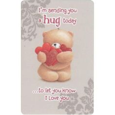 I'm sending you a HUGE HUG today to let you know I love you! XOXO's