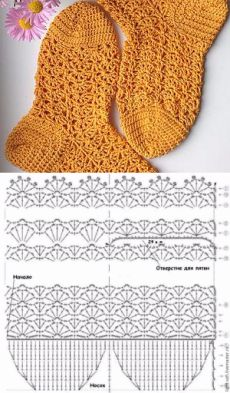Free Crochet Bootie Patterns, Gilet Crochet, Crochet Slipper Pattern, Crochet Mandala Pattern, Crochet Gloves, Crochet Stitches, Knitting Machine Patterns, Crochet Bookmarks, Crochet Baby Clothes